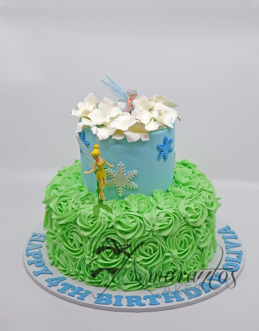 Two tier Tinker Bell Fairy Cake - AC60