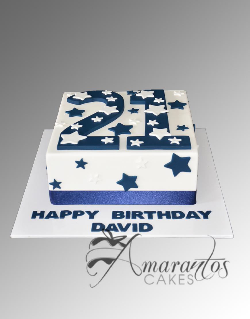 AC63C square with number WM Amarantos Cakes