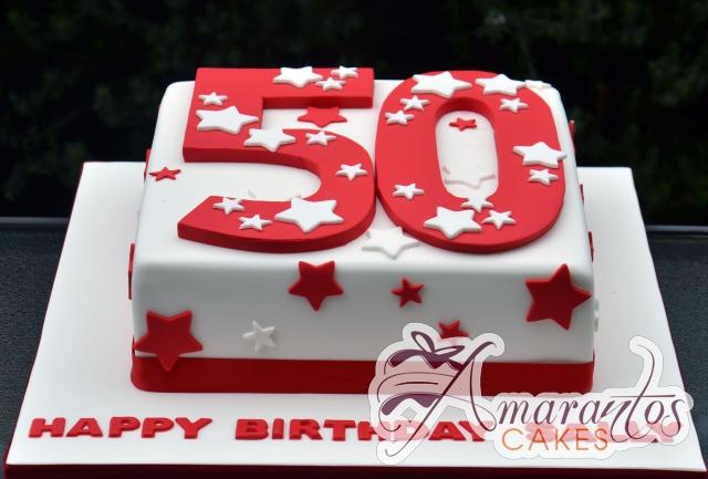 Square with Number Cake - Amarantos Designer Cakes Melbourne