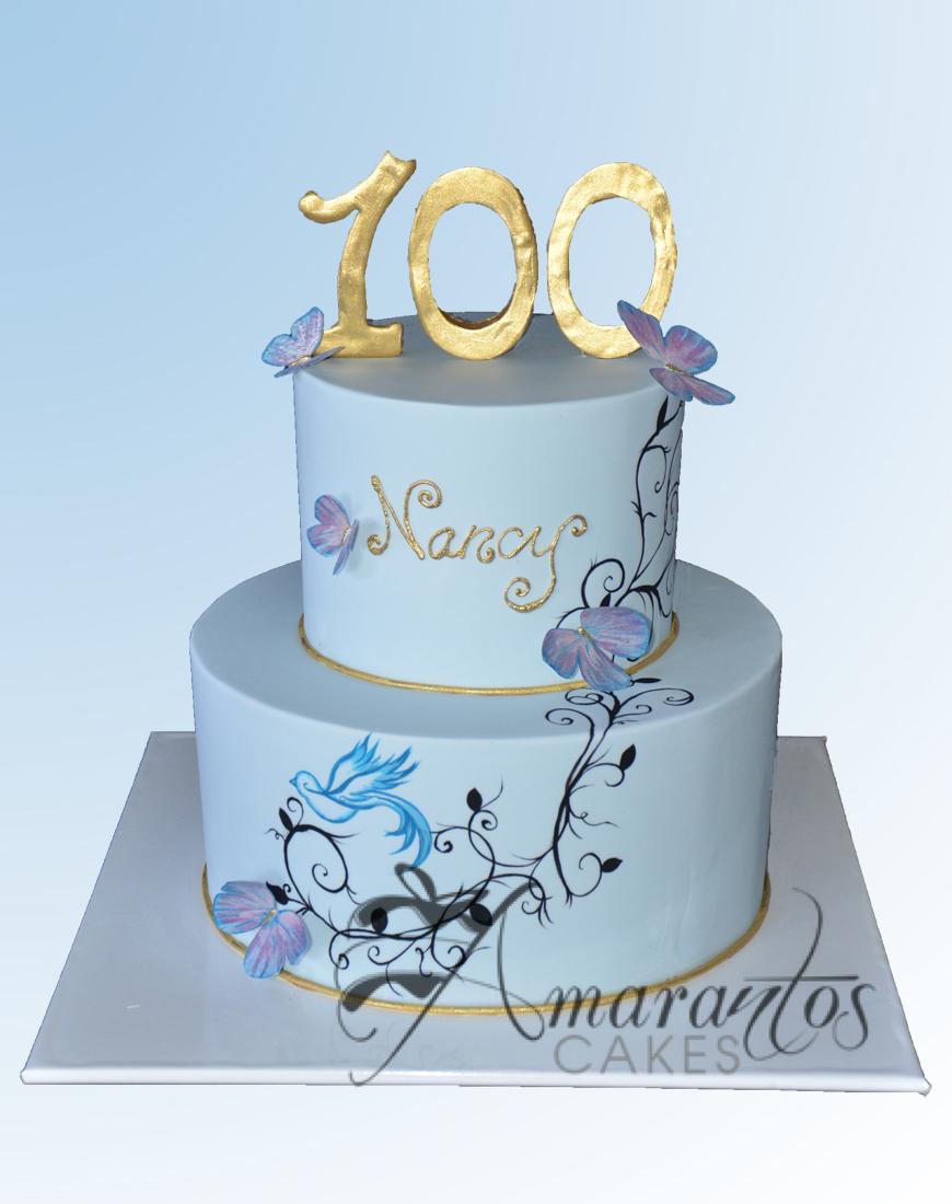 AC70 100 with butterflies WM Amarantos Cakes