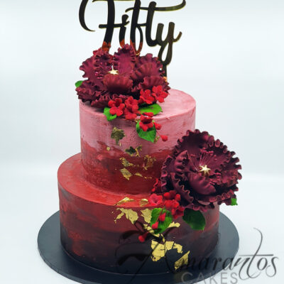 Two tier Ombre with Gold Foil - AC71