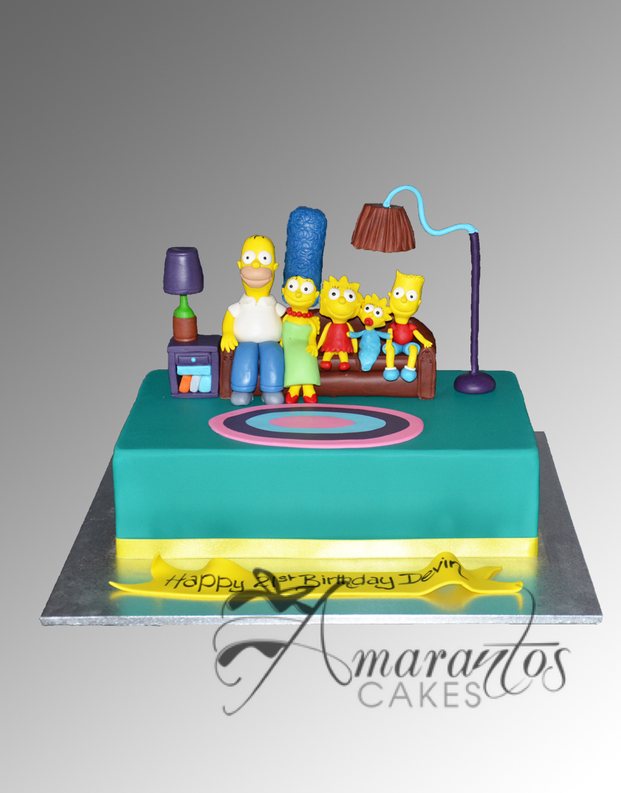 AC73 simpsons WM Amarantos Cakes