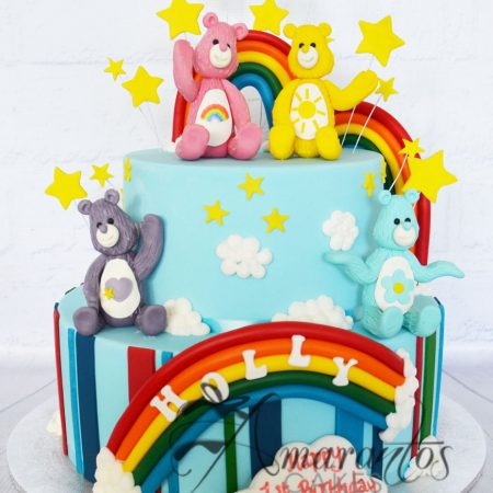 Two Tier Care Bears Cake – AC83
