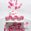 AC88 1st birthday balloons number 1 WM Amarantos Cakes