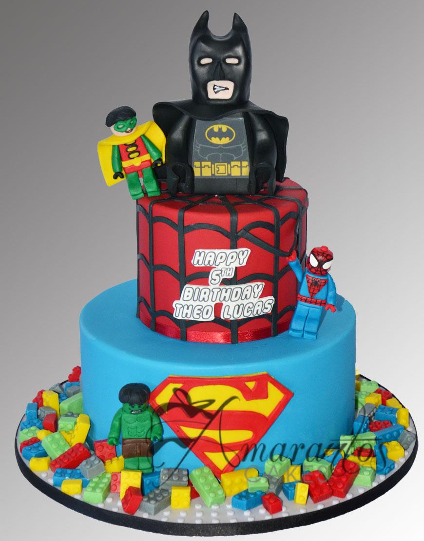 AC90 lego superhero WM Amarantos Cakes