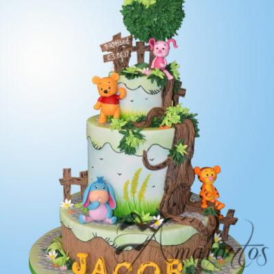 Four tier Pooh Bear Cake - CC01