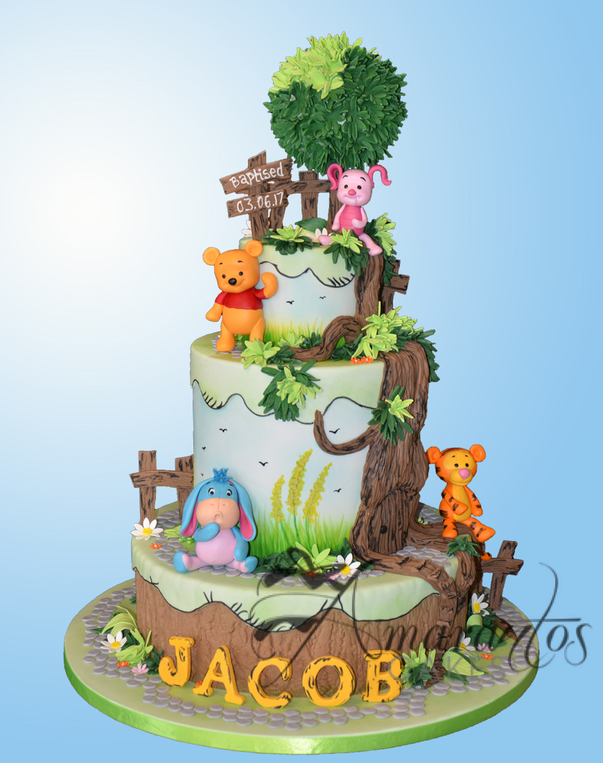 Four tier Pooh Bear Cake - CC01