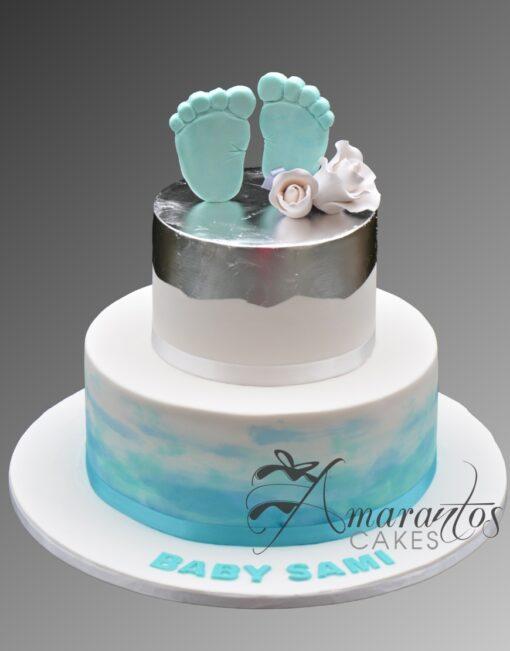 CC02 2 tier baby feet WM Amarantos Cakes