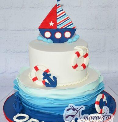 Two tier sailor cake - Amarantos Designer Cakes Melbourne