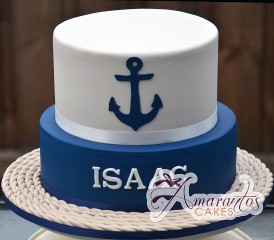 Two tier Nautical Cake - Amarantos Designer Cakes Melbourne