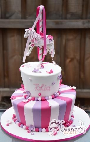 Two Tier Carousel Horse Cake - Amarantos Designer Cakes Melbourne
