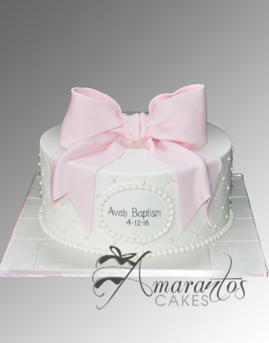 Simple Baptism Cake CC116