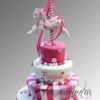 Three tier cake with carousel horse - CC26