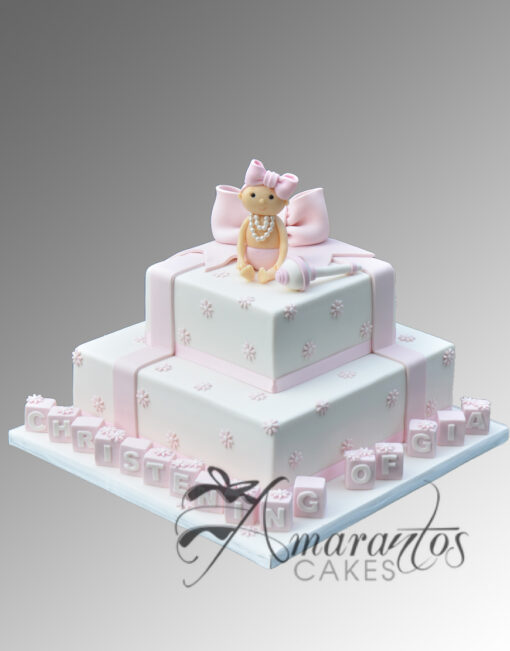Two tier Cake with Baby Rattle CC29