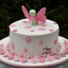 CC47 round with butterfly Amarantos Cakes