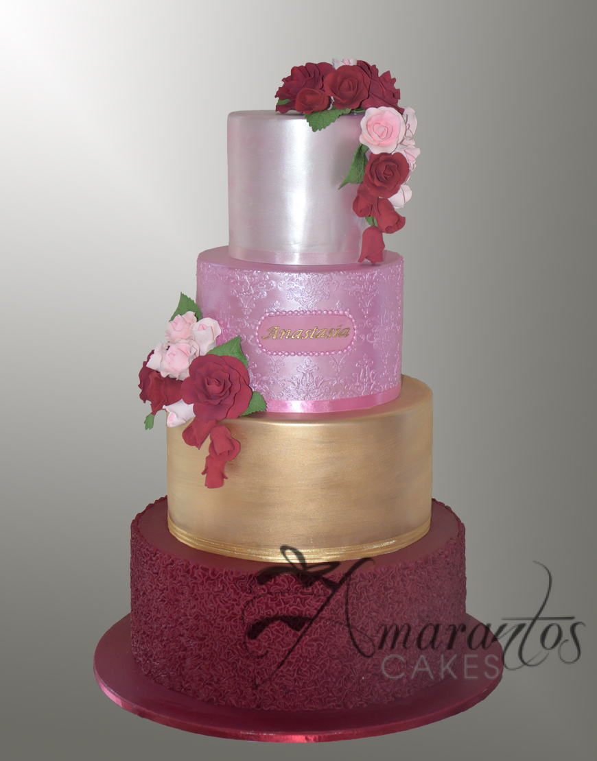 Eight tier Barrel Christening Cake - CC52