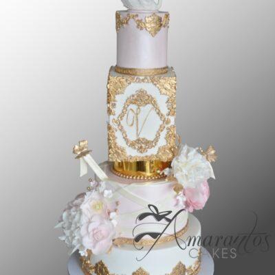 Swan Christening Cake - CC59 - Amarantos Cakes