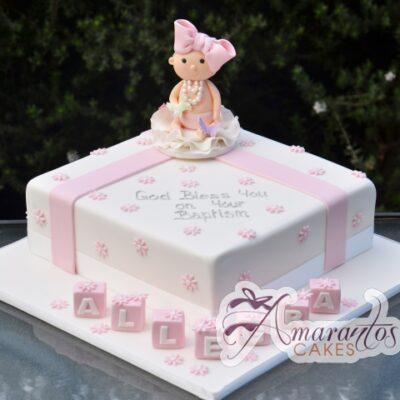 Baptism baby cake - Amarantos Designer Cakes Melbourne