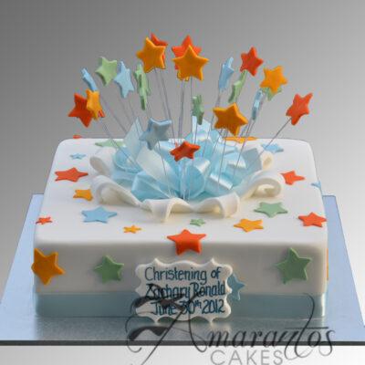 Simple Christening Cake - CC67