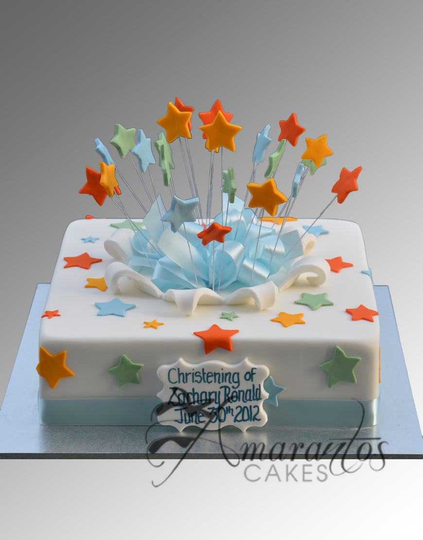 Simple Christening Cake - CC67