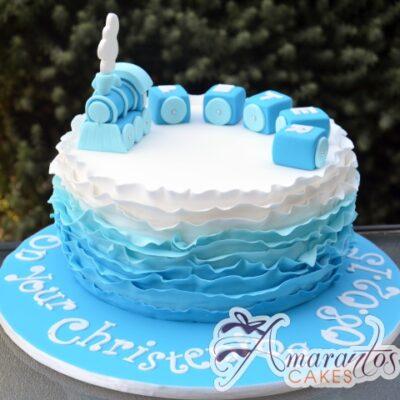 Round Cake With Train - Amarantos Custom Made Cakes Melbourne