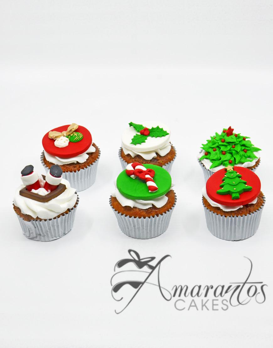 Christmas Themed Cupcakes - Amarantos Designer Cakes Melbourne