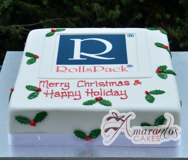 Christmas Corporate logo cake- CH12
