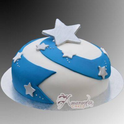 Dome Shaped Star Cake - Amarantos Designer Cakes Melbourne