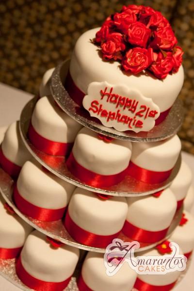 Red Roses Cake - Amarantos Designer Cakes Melbourne