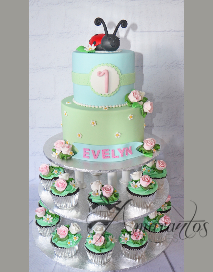 Tower Lady Bug Cake - Amarantos Designer Cakes Melbourne