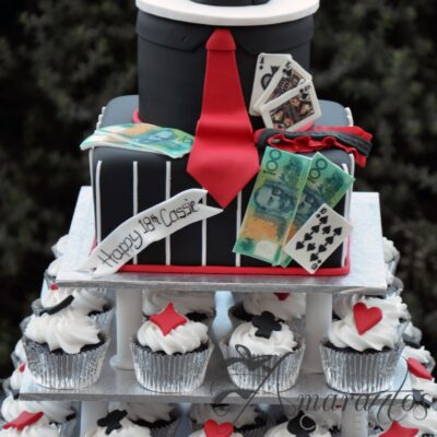 Gangster theme Cup Cake Tower- CT38