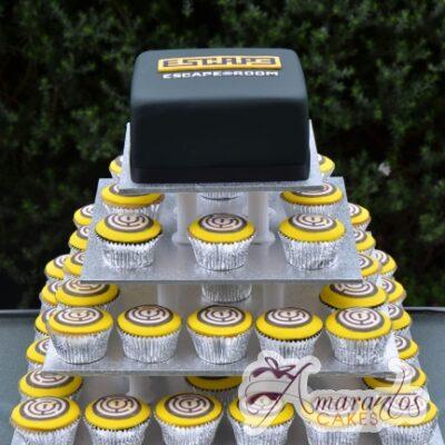 Cup Cake Tower - CT39 - Amarantos Corporate Cup Cakes Melborne
