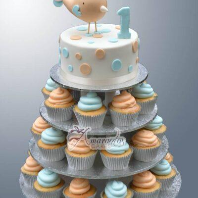 Cupcake Tower Cake - Amarantos Designer Cakes Melbourne