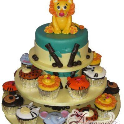 Jungle Themed Cake and Cupcakes - Amarantos Designer Cakes Melbourne