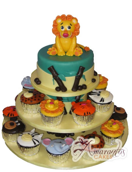 Jungle Themed Cake and Cupcakes - Amarantos Designer Cakes Melbourne