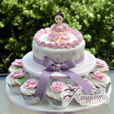 Two Tier Ballerina Cake - Amarantos Designer Cakes Melbourne