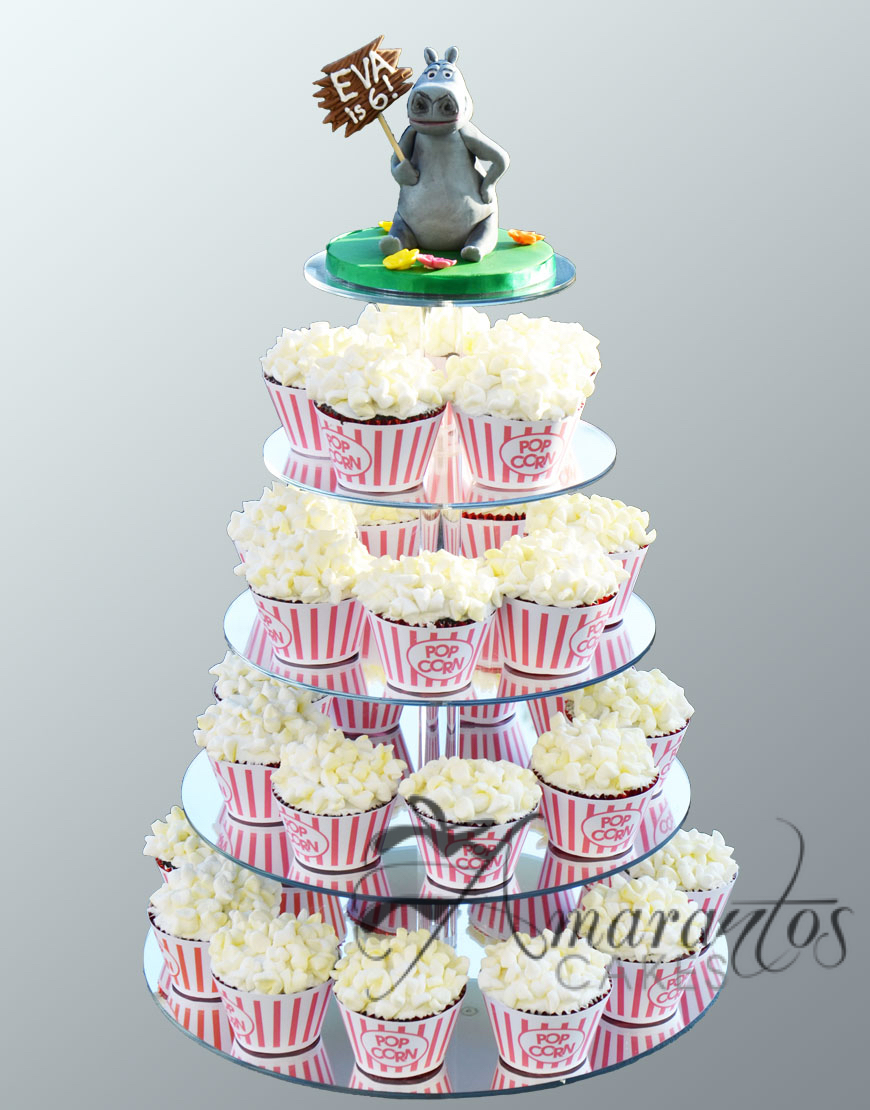 Popcorn cup cake tower cake
