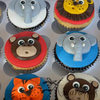 CU01 Jungle Themed Cupcakes - Amarantos Designer Cakes Melbourne