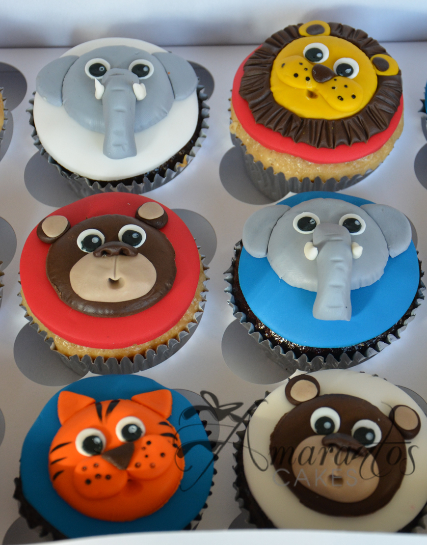 CU01 Jungle Themed Cupcakes - Amarantos Designer Cakes Melbourne