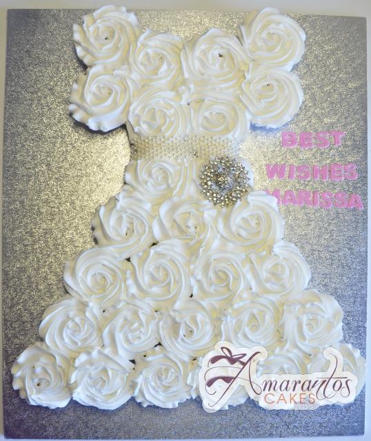 Bridal Gown cupcake cake - Amarantos Designer Cakes Melbourne