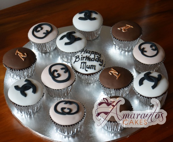 Louis Vuitton and Chanel Cupcakes - Amarantos Designer Cakes Melbourne
