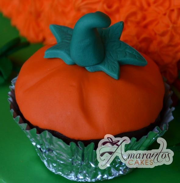 Pumpkin Cupcake - Amarantos Designer Cakes Melbourne
