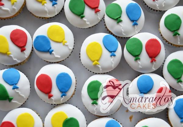 Birthday Baloon Cupcakes - Amarantos Designer Cakes Melbourne