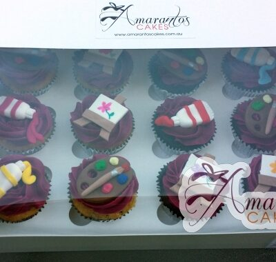 Artist themed cup cake - Amarantos Designer Cakes Melbourne