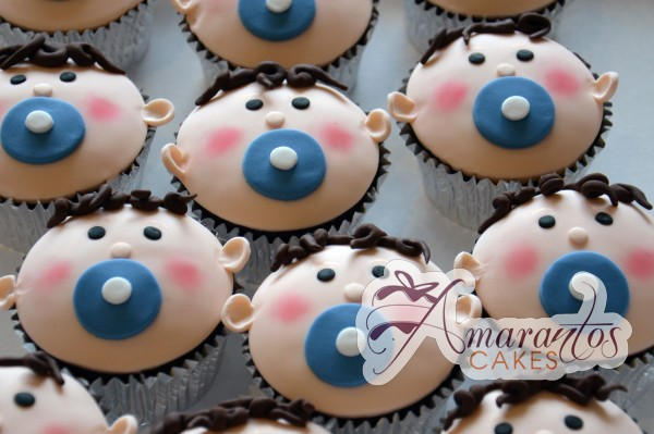 baby face cup cakes