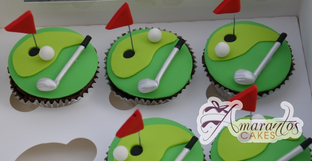 Golf Cup Cakes - Amarantos Designer Cakes Melbourne