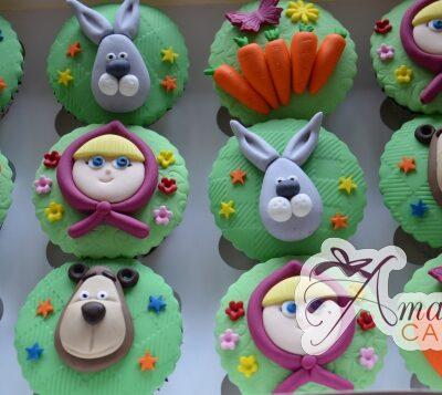 Masha and Bear Cup Cakes - Amarantos Designer Cakes Melbourne