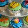 Beach Theme Cup Cakes - CU45