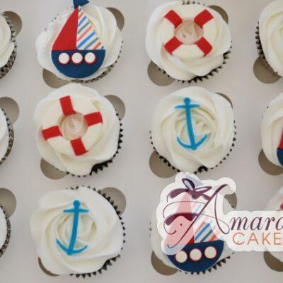Nautical Cup Cakes - Amarantos Designer Cakes Melbourne
