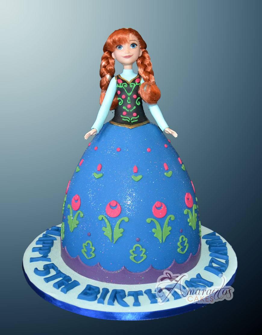 Anna Doll Cake - NC06 - Amarantos Cakes Melbourne